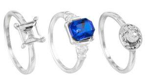 英國廉價商店「一鎊店」共賣出約4萬枚單價一英鎊的訂婚戒指,比去年幾乎多了一倍。(圖:BBC)