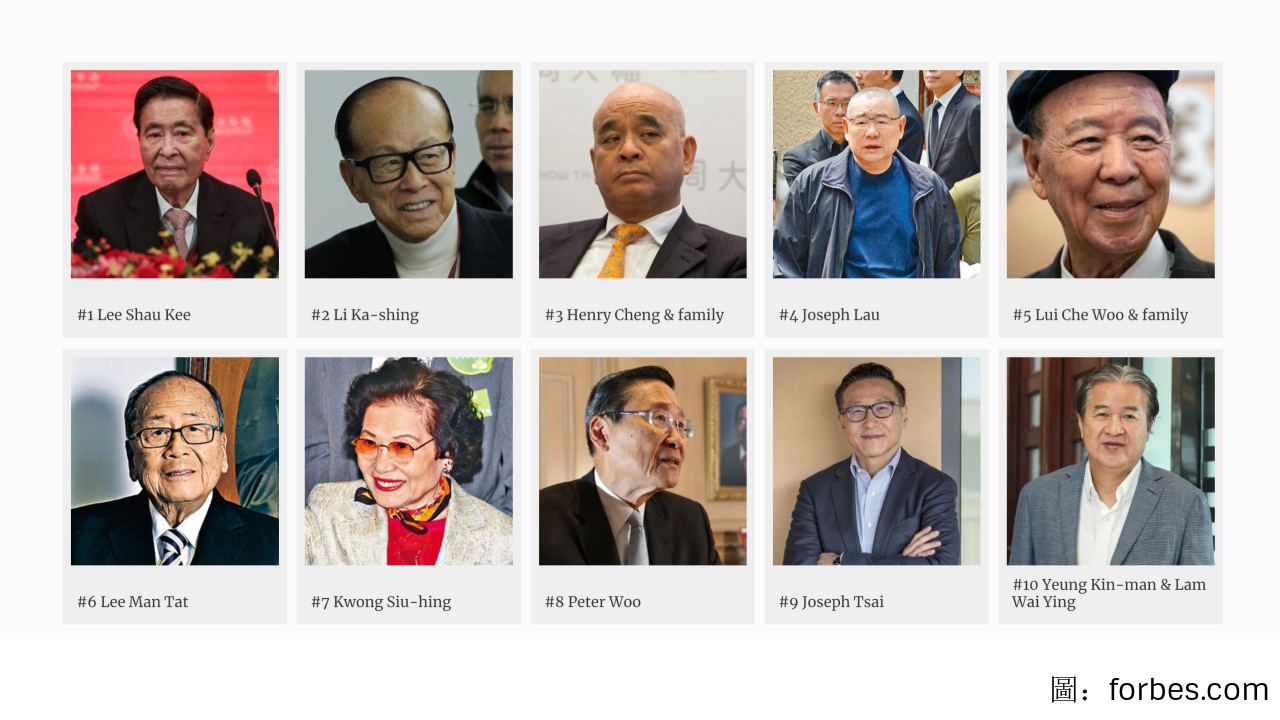 香港富豪排行榜